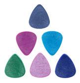 Triangle made of guitar picks — Stock Photo