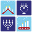 Four Christmas candleholders — Stockvectorbeeld