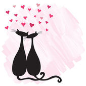 Cats in love — Stockvector