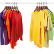 Choice of clothes, different colors — Stock Photo #22198111