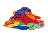 Heap of colorful clothes — Stock Photo