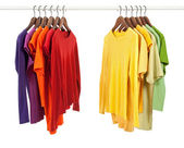 Choice of clothes, different colors — Stock Photo