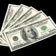 American money on black background — Stock Photo