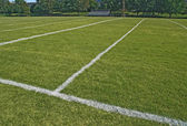 American football playing field in summer — Stock Photo