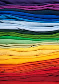 Rainbow clothes background — Stock Photo