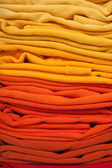 Pozadí červené a žluté oblečení — Stock fotografie