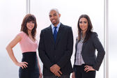 Business team of three — Stock Photo