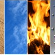 Four elements. Earth, air, fire, water. — Stock Photo