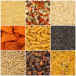 Collection of food backgrounds — Stock Photo