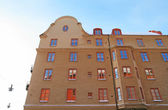 Residential architecture in the center of Stockholm — Stock Photo