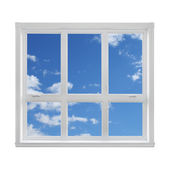 Blue sky seen through the window — Stock Photo
