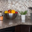 Stock Photo: Food ingredients and herbs on kitchen countertop