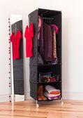 Clothes organizer with clothing and accessories — Stock Photo