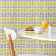 Modern table and chair on bright background — Stock Photo