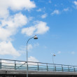 Stock Photo: Street lights on highway