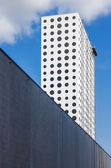 Modern building with round windows — Stock Photo