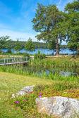 Park on the lakeshore — Stock Photo