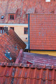 Rooftops of the Swedish town Visby — Stock Photo
