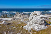 Rocky coast of Gotland, Sweden — Foto Stock