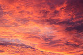Red sunset sky — Stock Photo