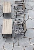 Café ao ar livre após a chuva — Foto Stock
