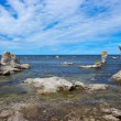 Rocky coastline in Gotland, Sweden — Stock Photo