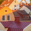 Rooftops of medieval town Visby — Stock Photo