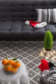 Interior with Christmas decorations — Foto Stock