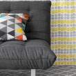 Sofa with colorful cushion — Stock Photo