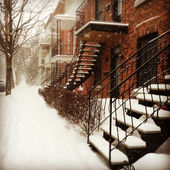 Snowstorm in Montreal — Stock Photo