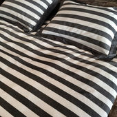 Striped bed linen — Stock Photo