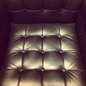 Black leather armchair — Stock Photo