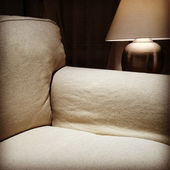 Armchair and cozy lamp — Foto de Stock