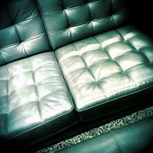 Shiny leather sofa — Foto de Stock