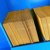 Stacks of cardboard — Stock Photo
