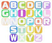 Plasticine alphabet — Stock Photo