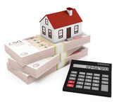 Mortgage Calculator - pounds — Stock Photo