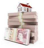 House Mortgage - pounds — Stock Photo