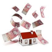 House Mortgage pounds — Stock Photo