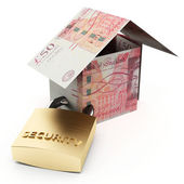 Secure house pounds — Stock Photo