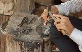 Silverware carving — Stockfoto