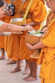 The merit to the monks — Stock Photo