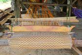 Loom for weaving mats — Stock Photo