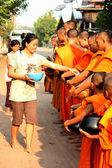 O mérito aos monges — Fotografia Stock