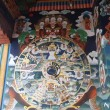 Stock Photo: Murals in Temple of Bhutan