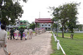 MAHASARAKHAM,THAILANDS - AUGUST 8 : Village Headman and Leader went on a campaign in the district on august 8, in Mahasarakham,Thailand — Stock Photo