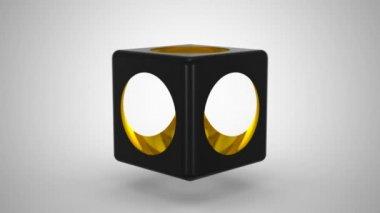 Cube & Sphere — Stock Video