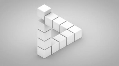 Unmögliche dreieck — Stockvideo