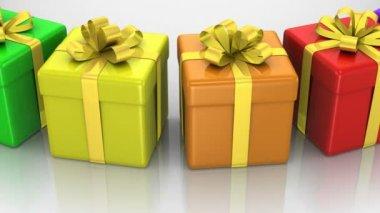 Gift Boxes — Stockvideo