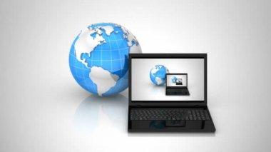 Rede de computadores — Vídeo stock